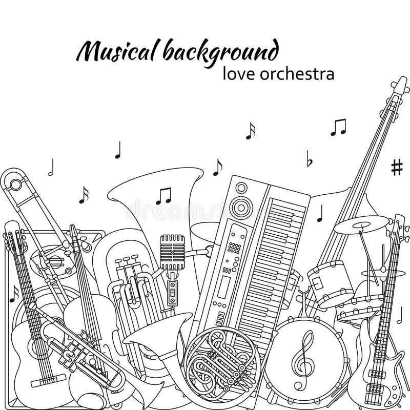 Musical Background Made Of Different Musical Instruments