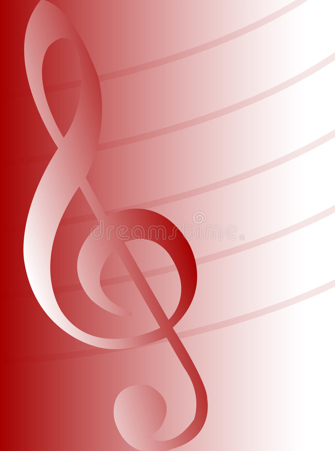 Download Musical Background-Red/eps stock vector. Image of lines - 538632
