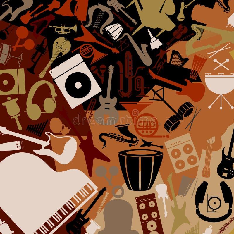 Musical background3 stock illustration