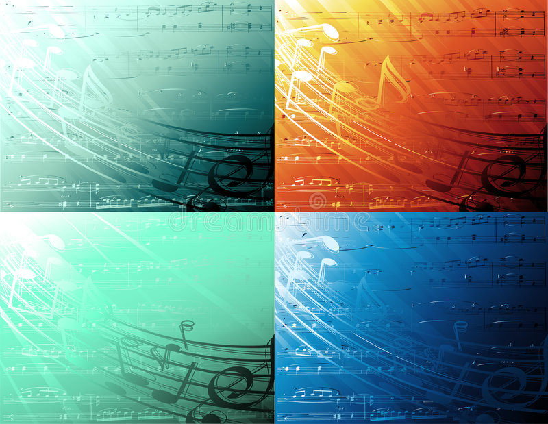 Musical backgrounds. Underwater musical background-vector illustration vector illustration