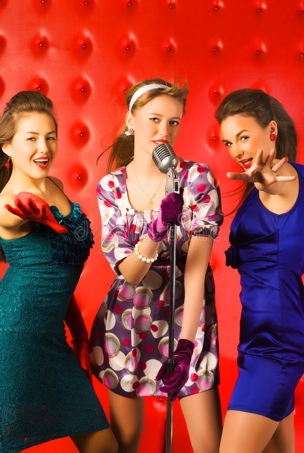 Download Musical band stock image. Image of caucasian, club, female - 8777807