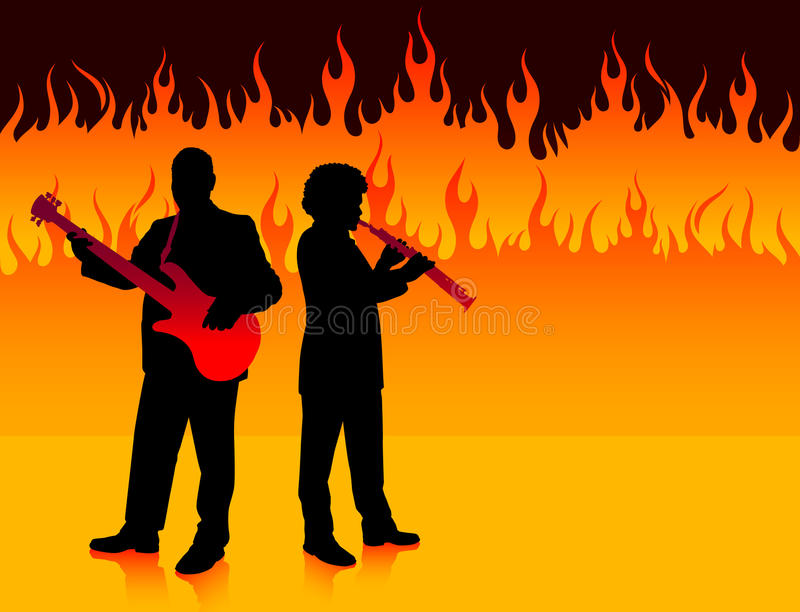 Download Musical Band In Hell Stock Photography - Image: 12393782
