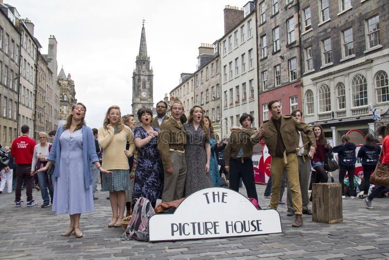 Musical bij het Festivalrand van Edinburgh stock foto