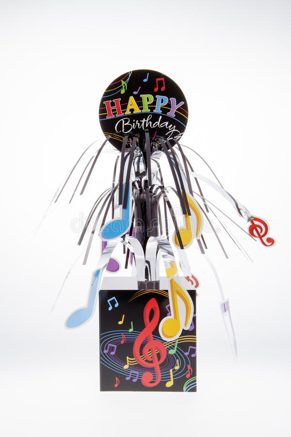 Musical Birthday stock image