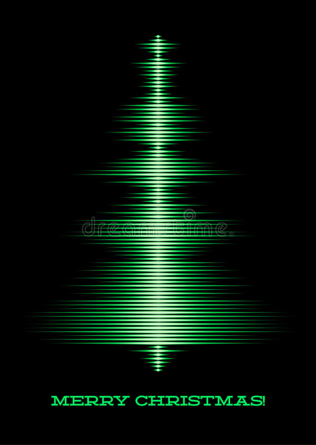 Musical Christmas Tree Card Royalty Free Stock Photography - Image ...
