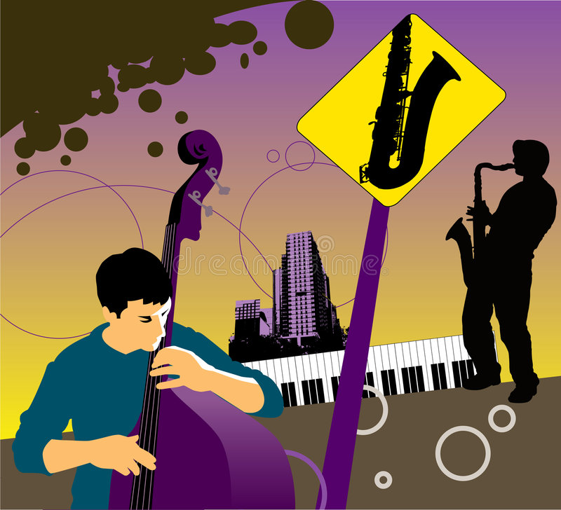Download Musical City background stock vector. Image of vector - 7315253