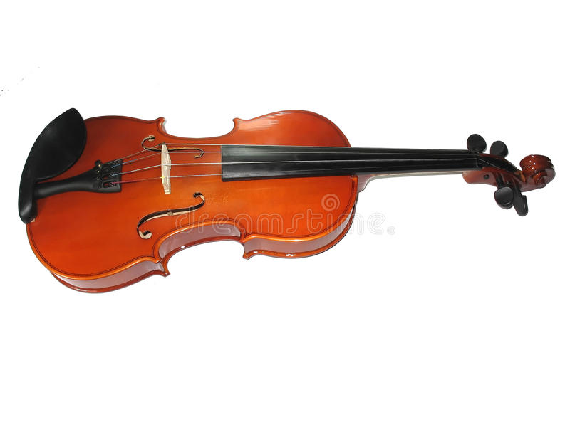 Musical classic violin isolated on white. Background stock photography