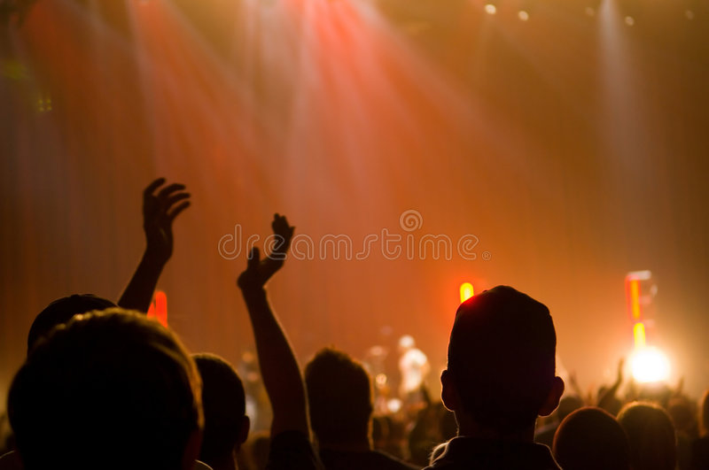 Musical Concert - Christian - clapping royalty free stock photography