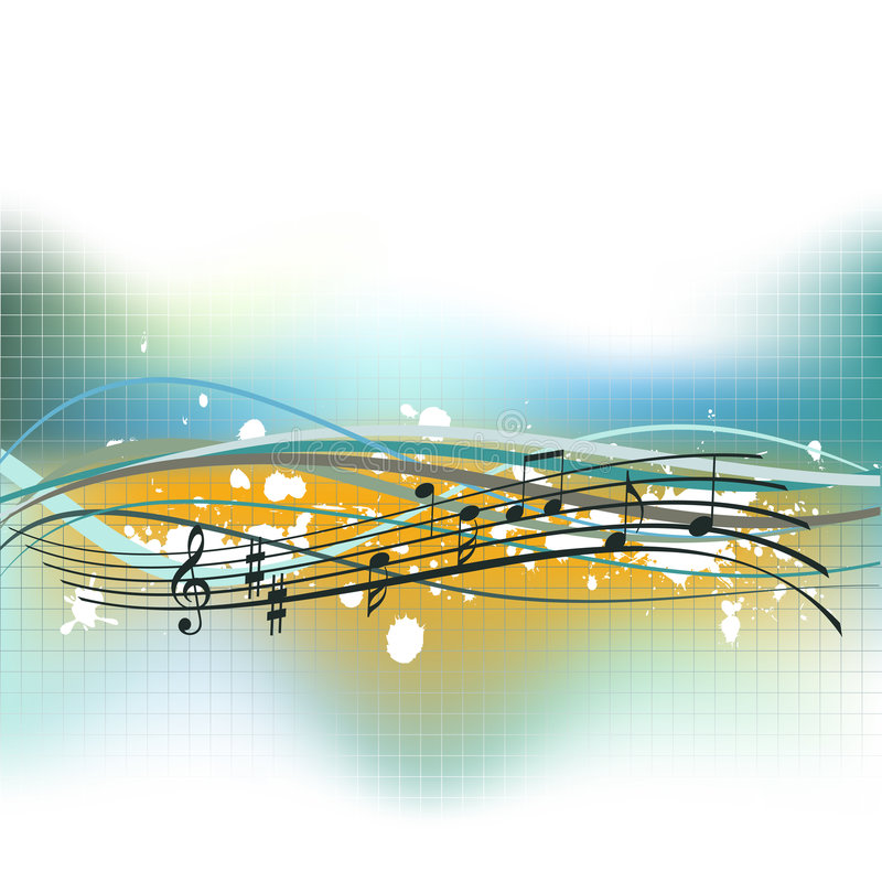 musical de fond illustration libre de droits