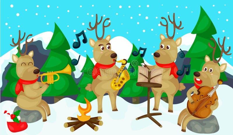 Musical de renne illustration libre de droits