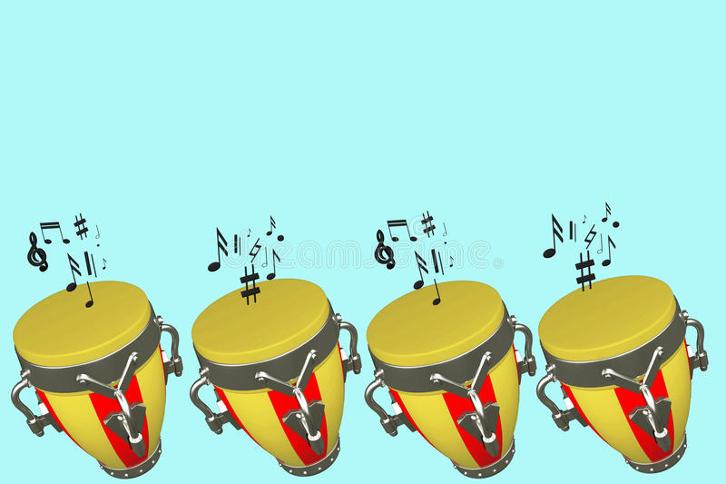 Musical drums stock photography