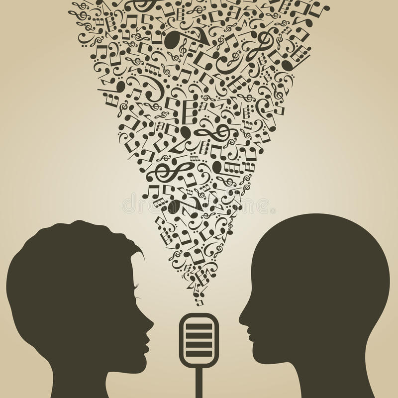 Musical duet royalty free illustration
