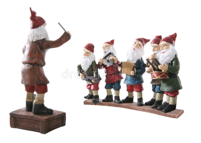 Download Musical Dwarves stock photo. Image of horn, season, accordion - 3809286