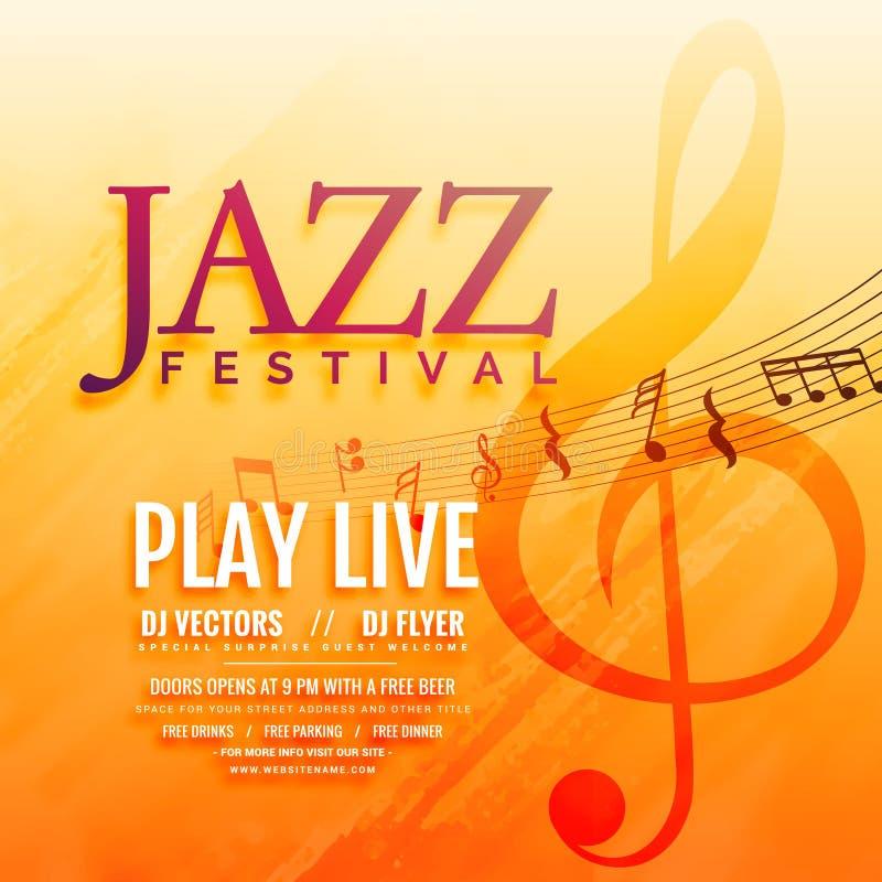 Musical event flyer poster background design. Illustration stock illustration