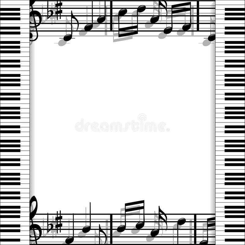 Download Musical frame stock vector. Illustration of shadow, solo - 37165489