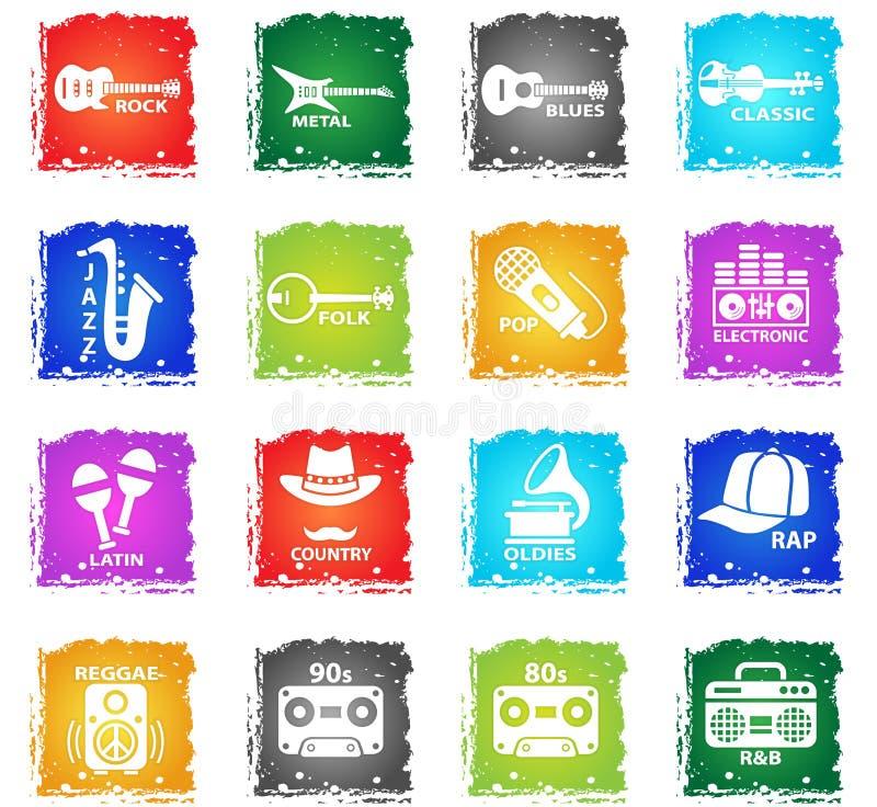 musical genre web icons royalty free illustration