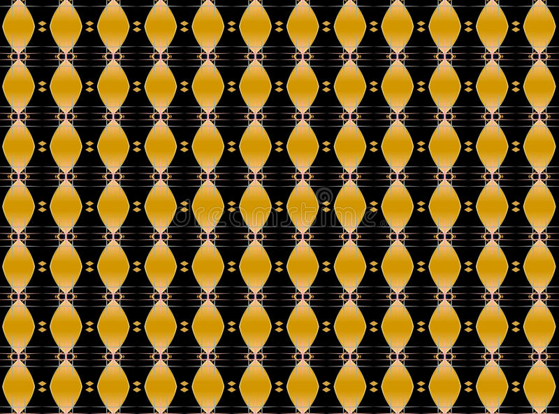 Musical golden repeated pattern royalty free stock photography