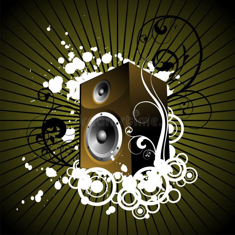 Musical graphic. Vector retro music illustration with blot vector illustration