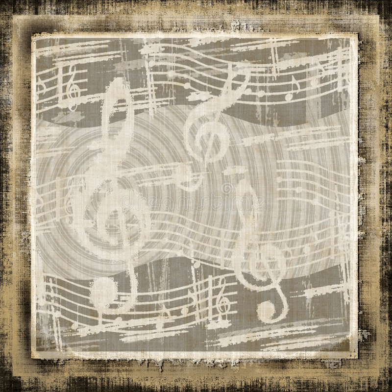 Download Musical Grunge stock illustration. Image of note, noise - 4763530