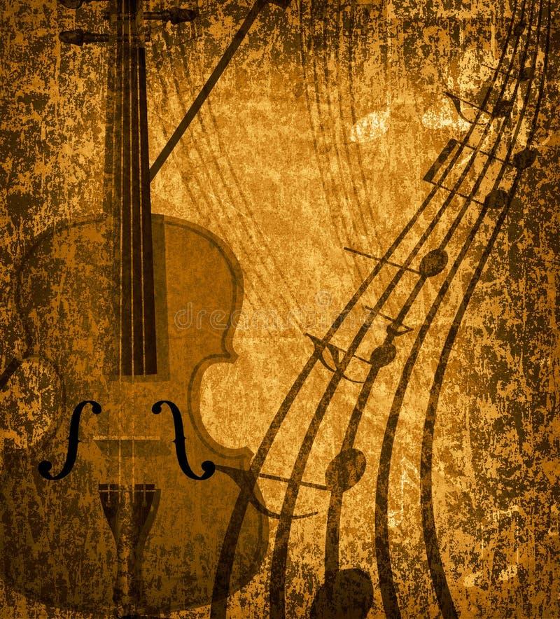 musical grunge de fond illustration de vecteur