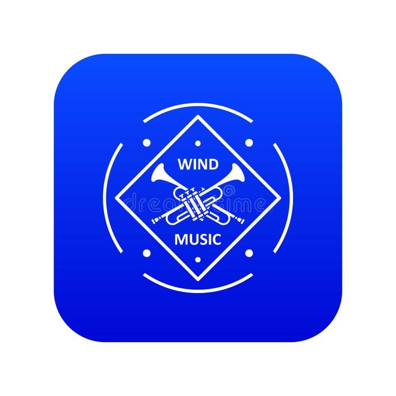 Musical ikony błękita tubowy wektor ilustracja wektor