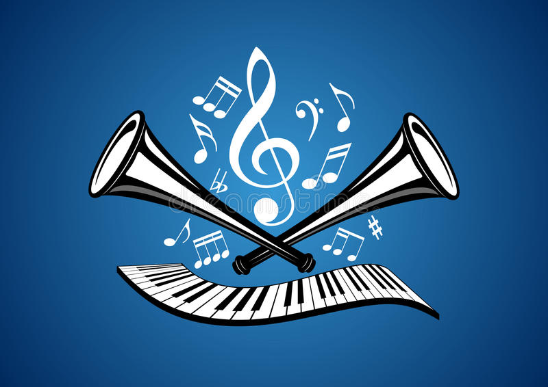 Musical illustration vector illustration