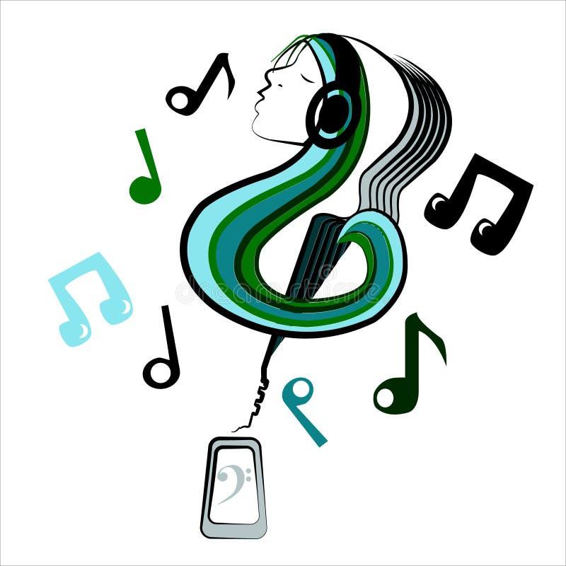 Musical inner world stock photo