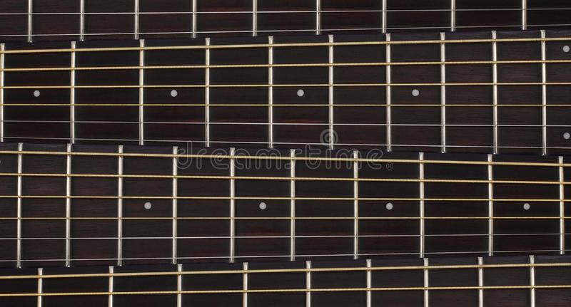 Musical instrument - Acoustic guitar Neck background royalty free stock photography