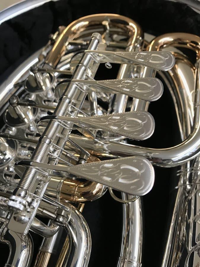 Musical Instrument, Brass Instrument, Wind Instrument, Euphonium royalty free stock photo
