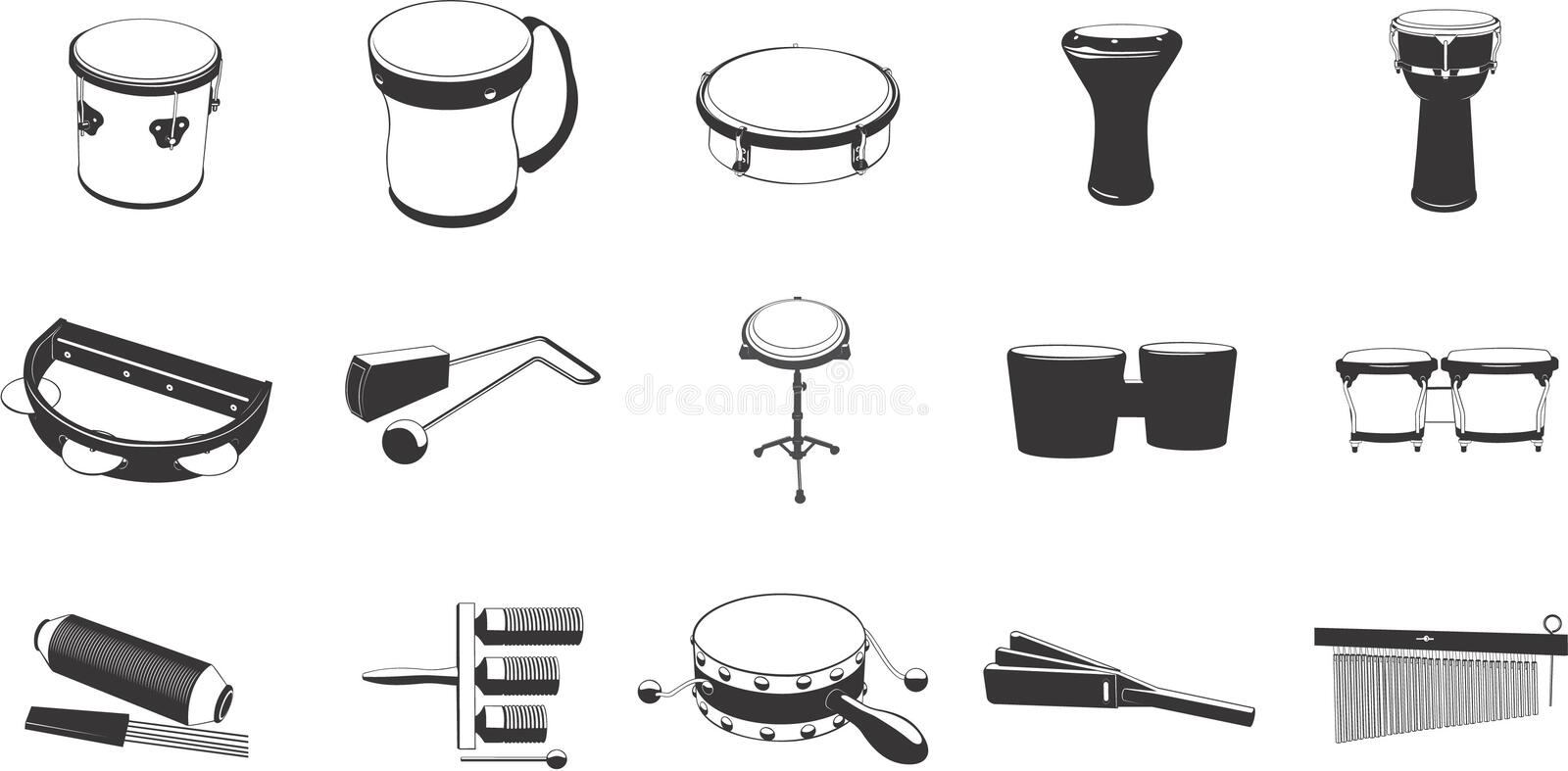 Download Musical Instrument Icons stock vector. Image of bongo - 5330800
