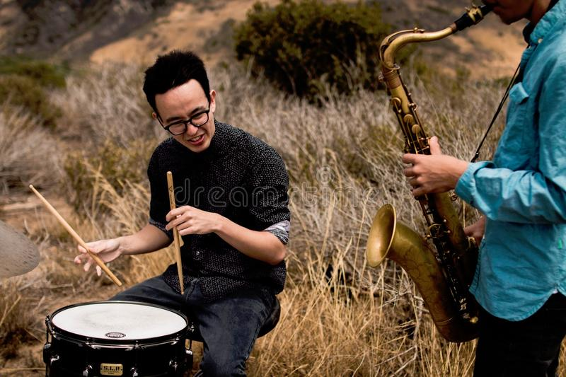 Musical Instrument, Musician, Grass, Tree royalty free stock image