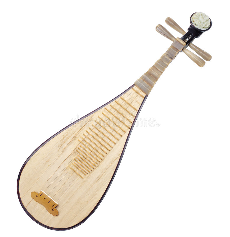 Musical instrument pipa of china royalty free stock image