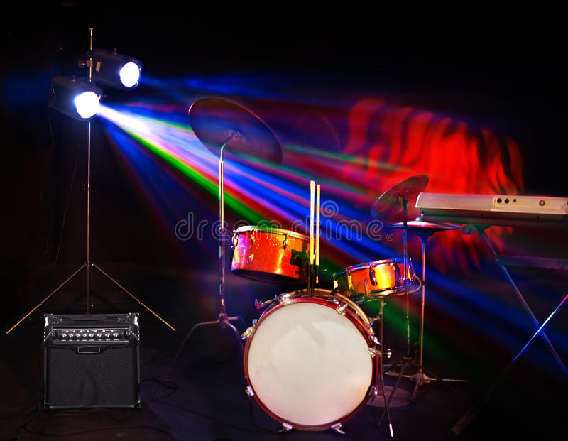 Download Musical Instrument On Stage. Stock Photo - Image: 26671502
