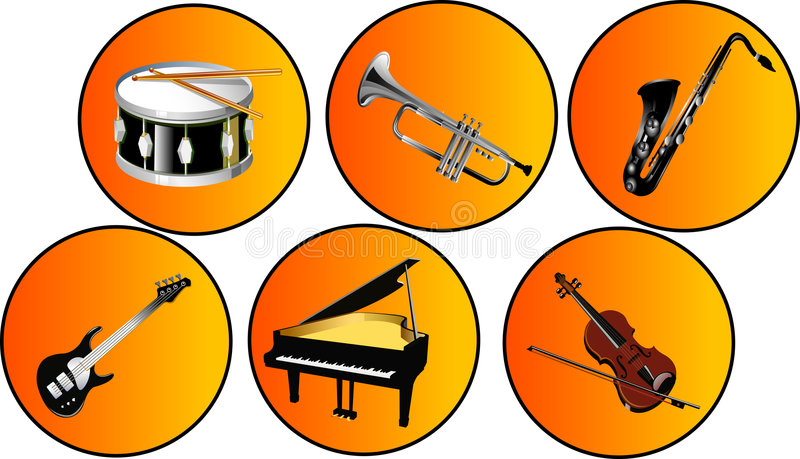 Download Musical instruments stock illustration. Illustration of musics - 2494349