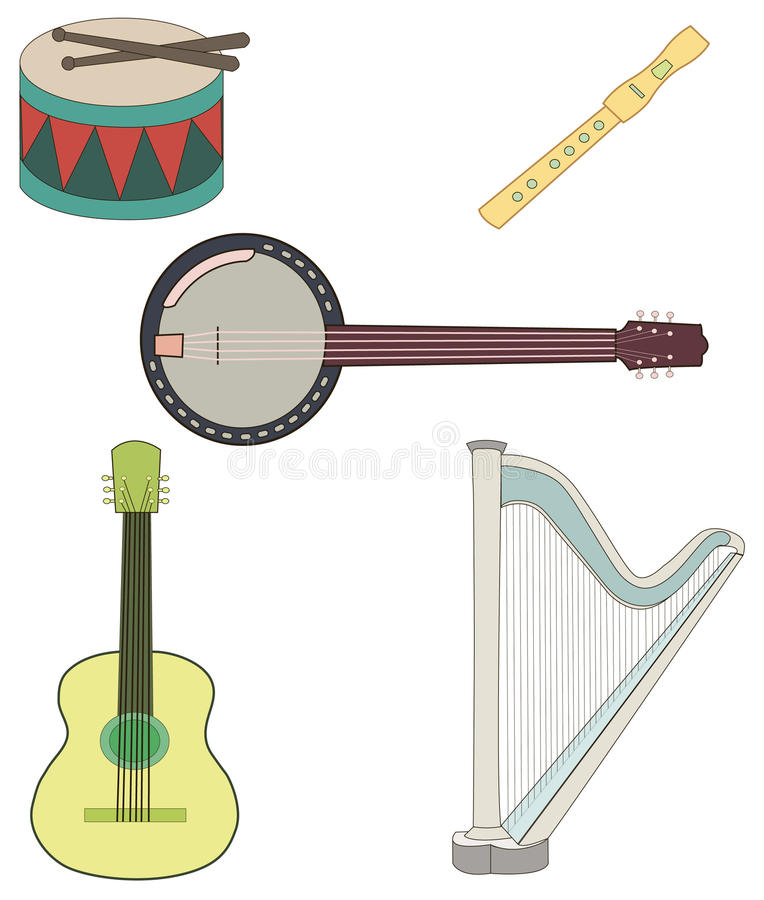 Download Musical instruments stock vector. Illustration of music - 28973497