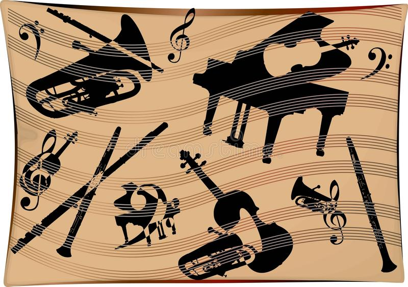 Musical Instruments Background Royalty Free Stock Images