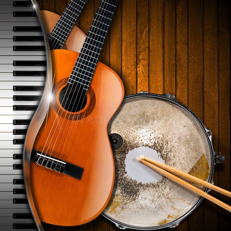 Musical Instruments Background stock illustration