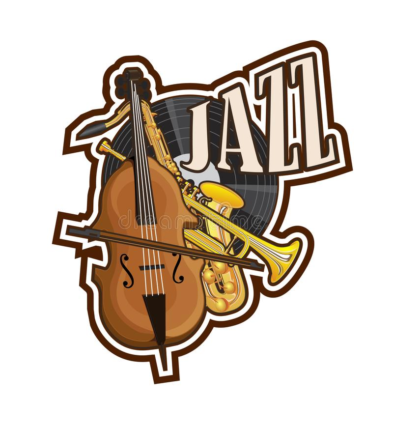 Musical instruments drawn in the form of an icon royalty free illustration