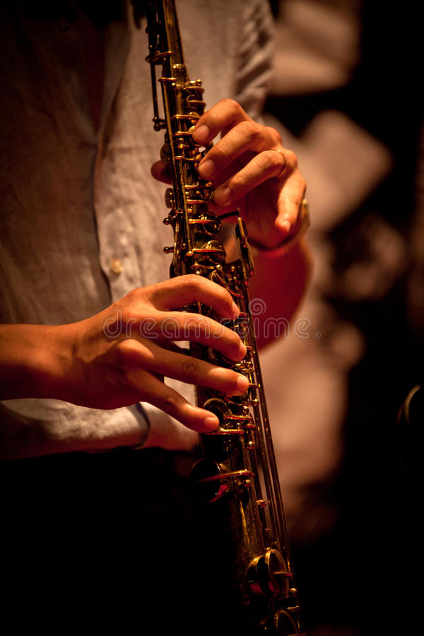Musical instruments playing royalty free stock image