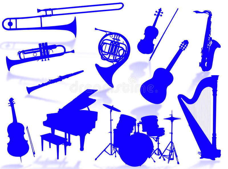 Download Musical Instruments Silhouette Stock Illustration - Image: 6659358