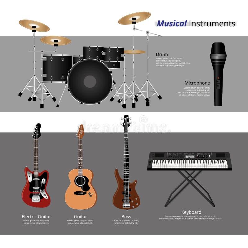 musical instruments stock vector illustration of background 69460553. Black Bedroom Furniture Sets. Home Design Ideas