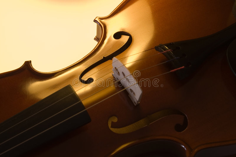 Musical instruments: violin close up (2 ) royalty free stock photo