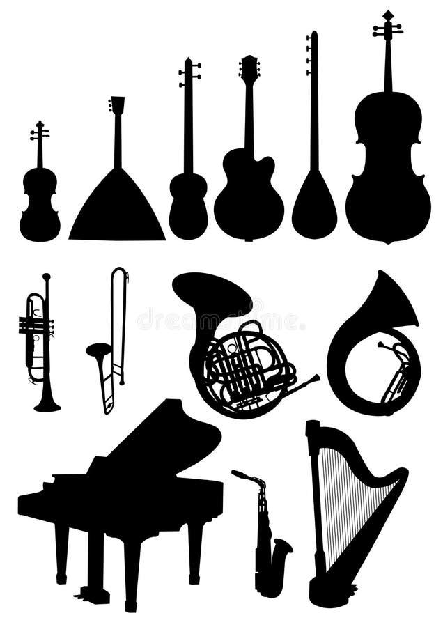 Musical instruments stock illustration