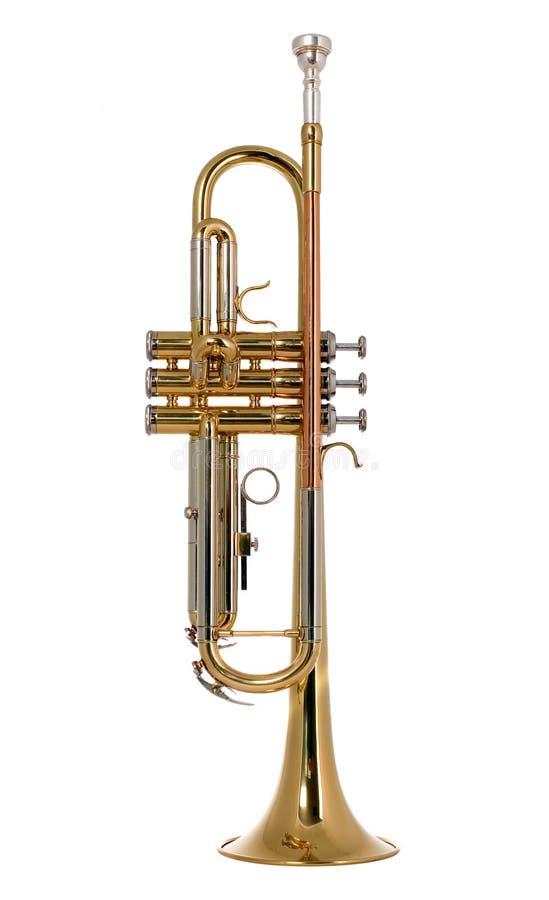 Musical instument trumpet stock images