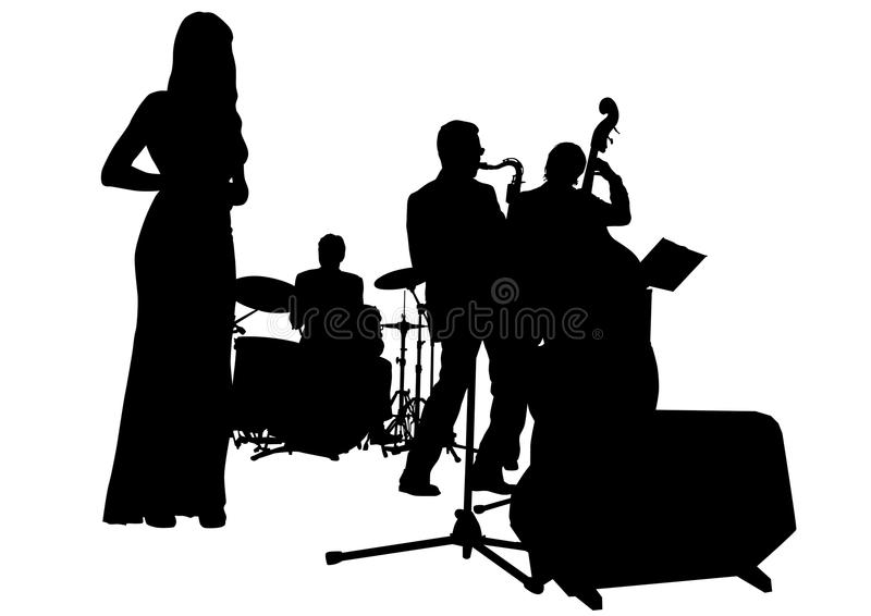 Download Musical jazz band stock vector. Image of musician, acoustic - 10672397