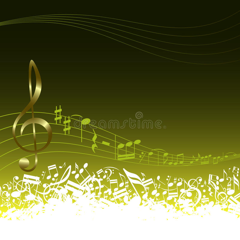 Musical key and notes royalty free stock photos