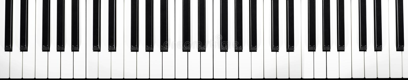 Musical keyboard more than four octaves royalty free stock image