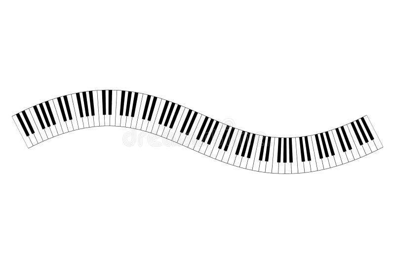Musical keyboard wave stock illustration