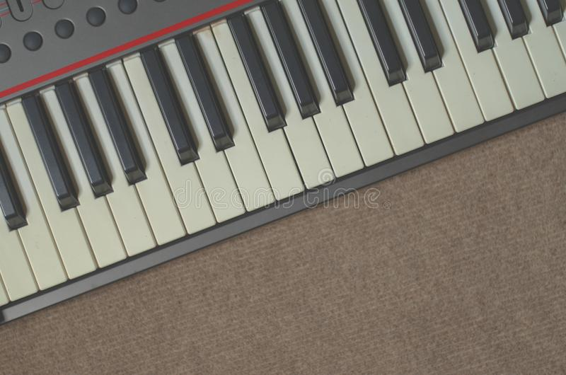Musical Keyboards White and black close up stock photos