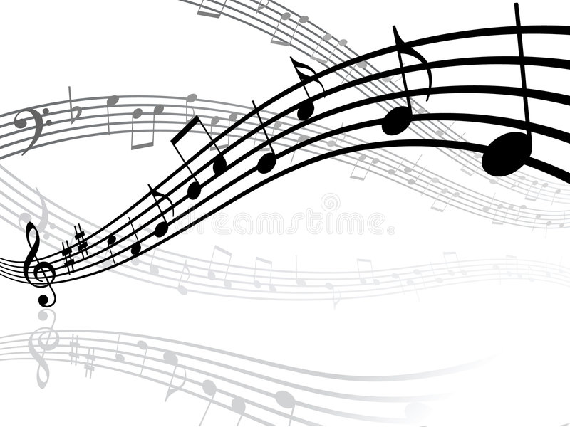 Download Musical Lines With Notes Stock Image - Image: 4807471